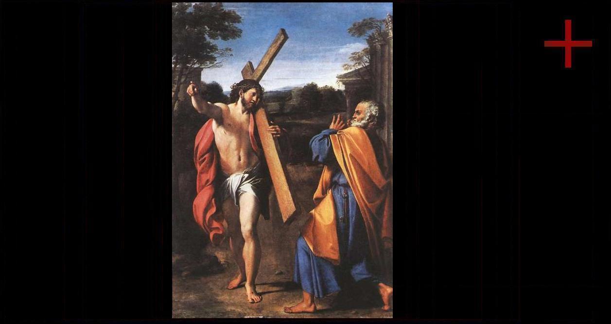 auferstandener christus am kreuz und kreis