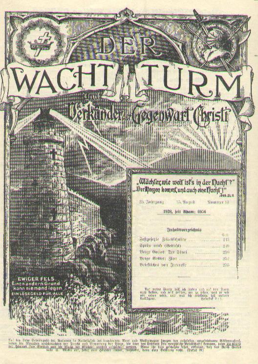 1928er Rückblick Zur Zeugen Jehovas Geschichte