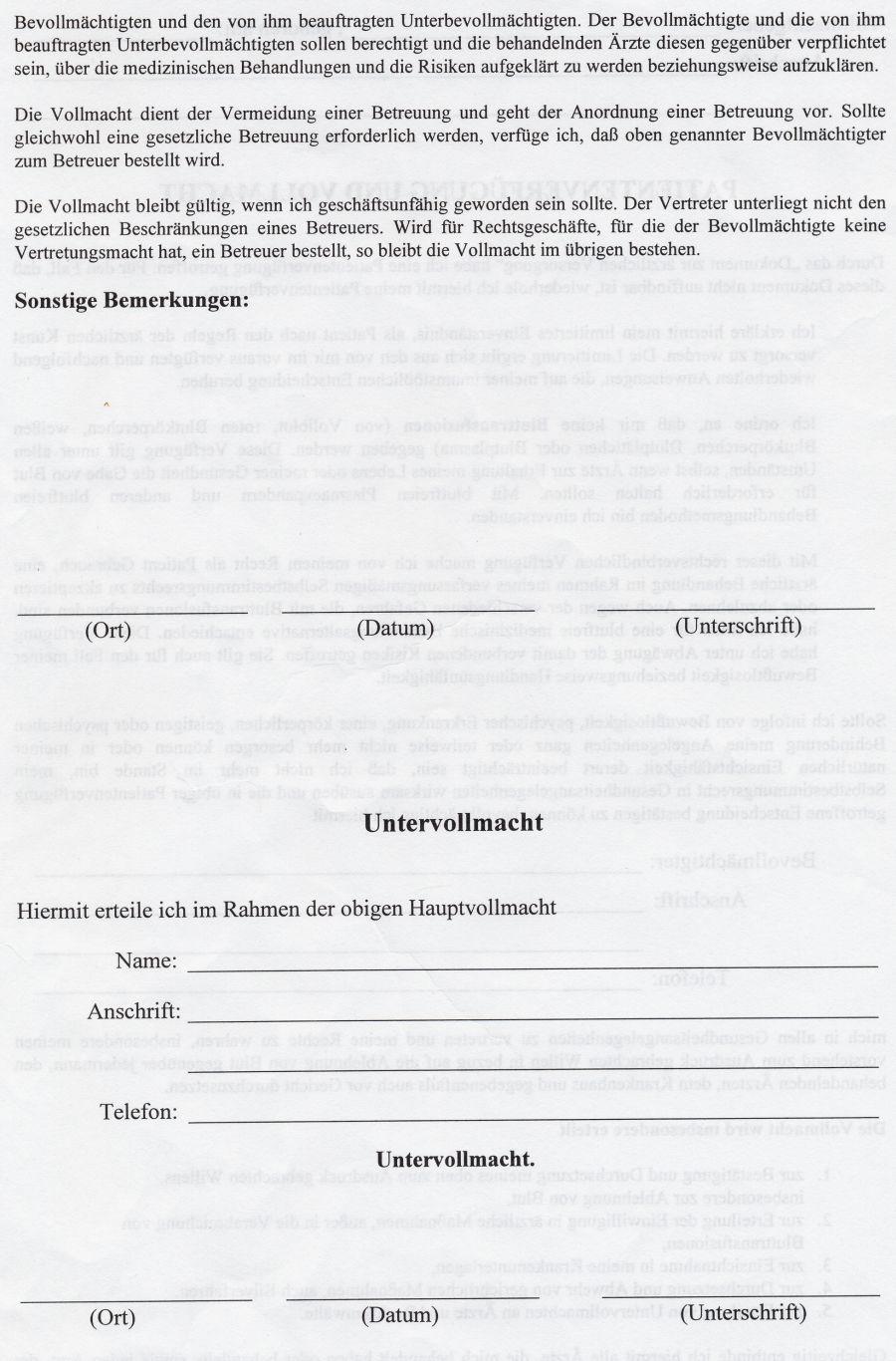 Berühmt Blank Vollmachtsformular Ideen - FORTSETZUNG ARBEITSBLATT ...