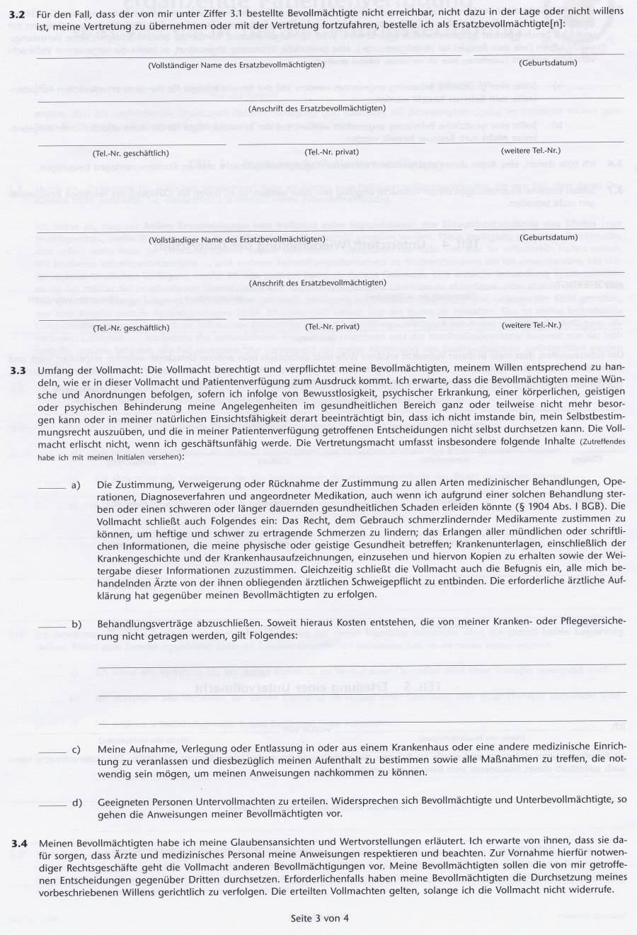 beachtliche patientenverfügung formular